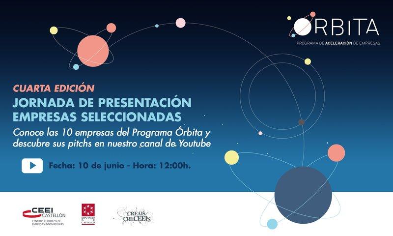 Reminder: Invitación presentación 10 proyectos seleccionados 4ª edición de Órbita