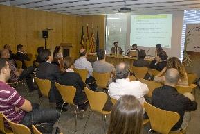 Joan Maurel, Cristina Villó y Cristina Martínez en la jornada