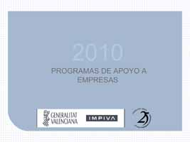 Programa de Ayudas a empresa 2010 IMPIVA