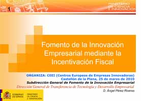 Fomento de la innovación a través de la desgravación fiscal (Presentación)