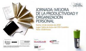 Programa jornada Mejora Productividad y organización de personal