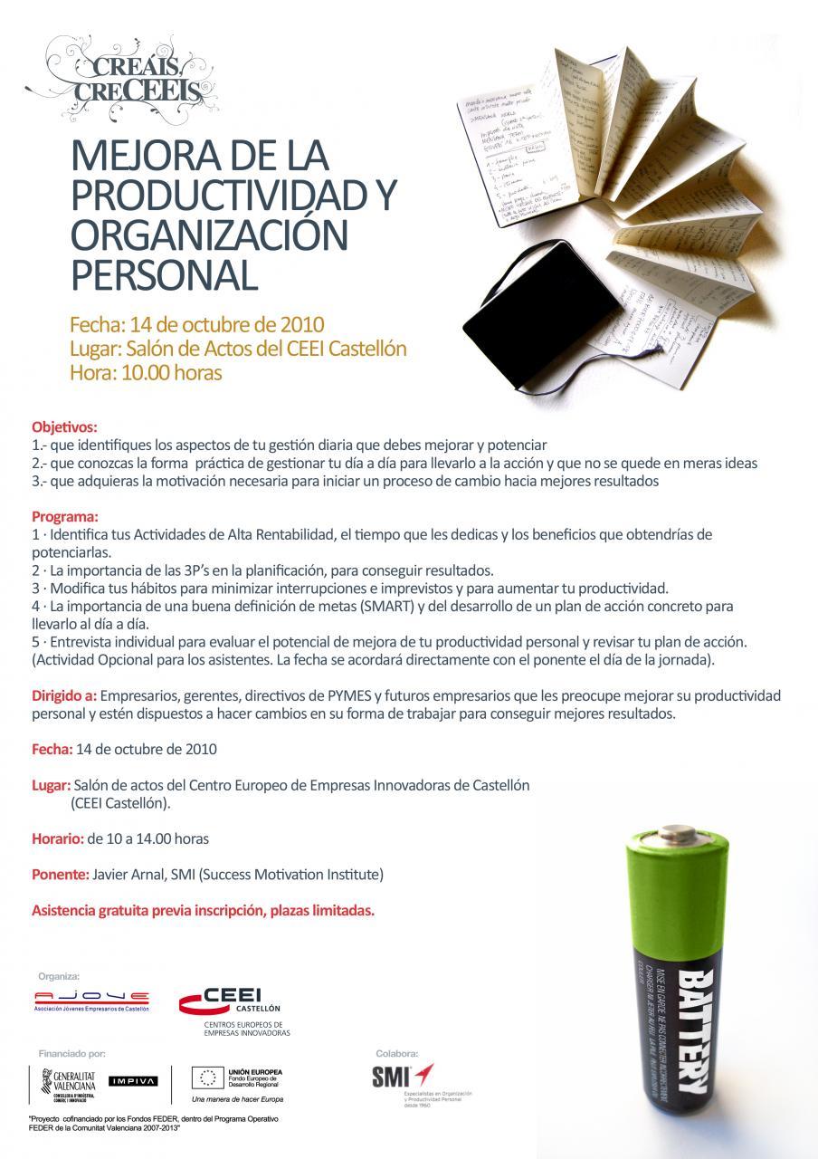 Mejora Productividad, Programa de la Jornada