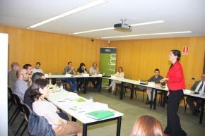 Adriana Rubio durante el taller
