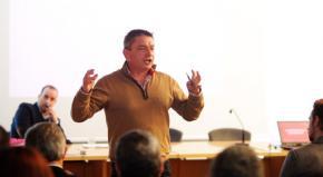Ximo Salas, durante su presentación