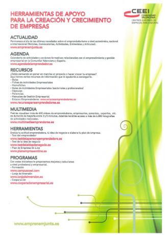 Sesión informativa sobre herramientas para emprendedores