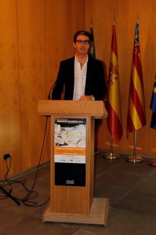 El director del CEEI, Justo Vellón cierra el acto
