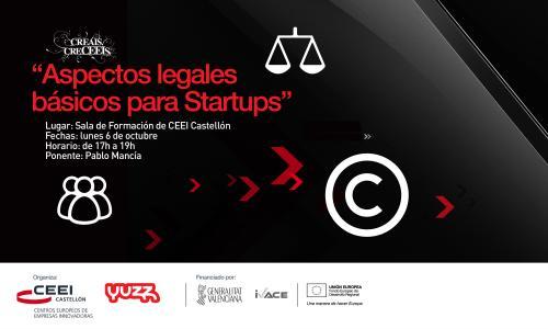 """Ponencia:"""" Aspectos legales básicos para startups"""", Pablo Mancía 061014"""
