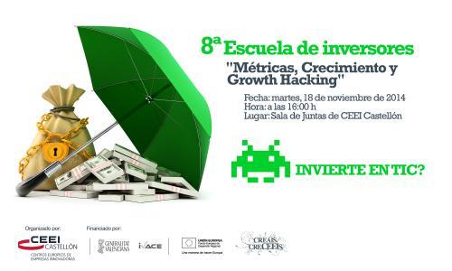 """Ponencia: """"Métricas, crecimiento y growth hacking"""" Javier Megias  Escuela inversores 181114"""