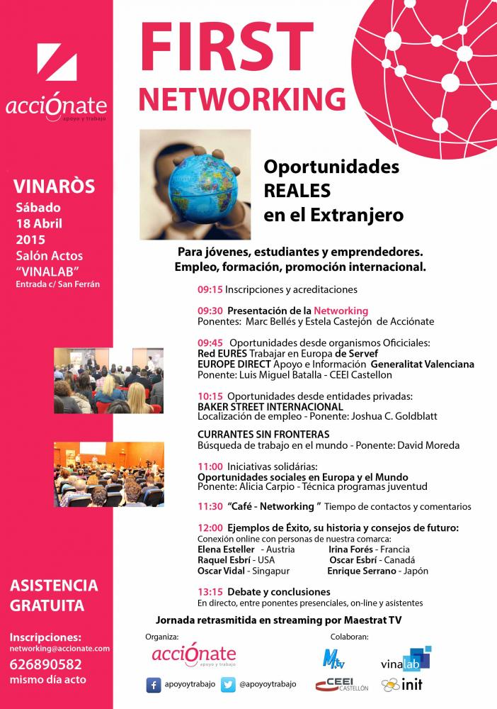 networking extranjero accionate abril