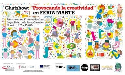 """Chatshow: """"Provocando la creatividad"""" en FERIA MARTE"""
