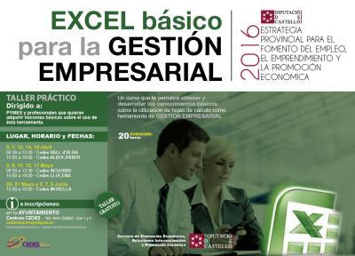 """Taller pr�ctico:""""Excel b�sico para la gesti�n empresarial"""""""