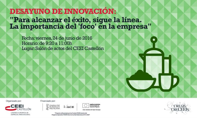 Recordatorio: Invitaci�n Desayuno de innovaci�n:La importancia del 'foco'en la empresa para t