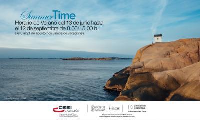 Horario de verano CEEI Castellón y vacaciones 2016