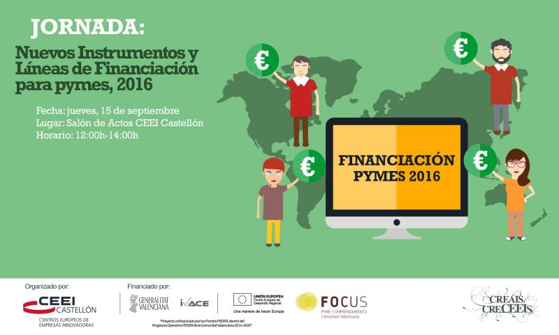 """Recordatorio Jornada:""""Nuevos Instrumentos y L�neas de Financiaci�n para PYMES 2016, jueves 15"""