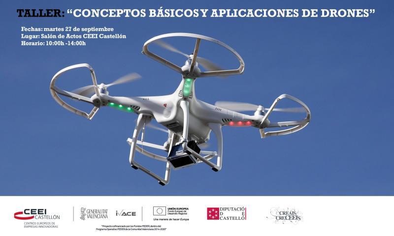 """Invitación Taller:""""Conceptos Básicos y Aplicaciones de Drones"""", martes 27"""