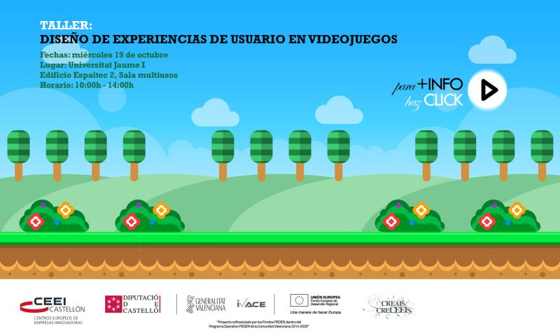 Taller: Diseño de experiencias de usuario en videojuegos, 19 de octubre