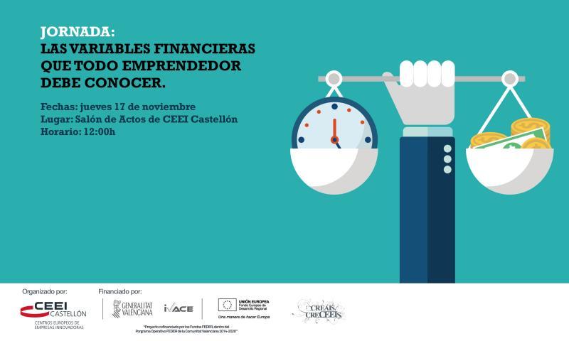 Invitación Jornada: Las variables financieras que todo emprendedor debe conocer