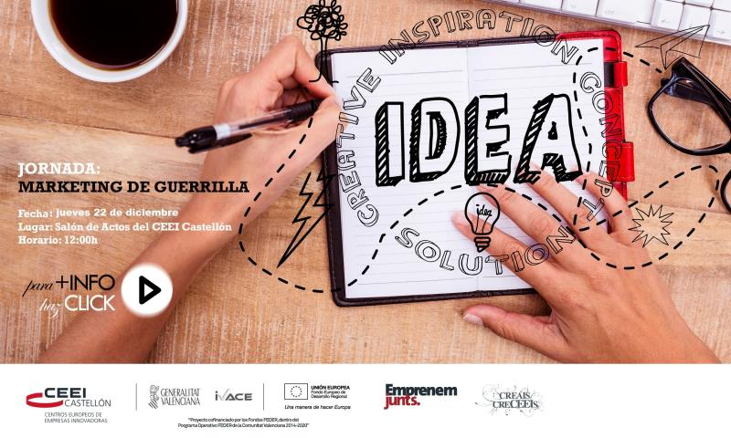"Recordatorio Jornada: ""Lean MKT: Marketing de guerrilla aplicado a startups"""