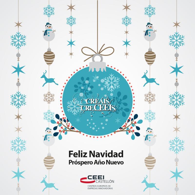 El equipo del CEEI Castellón os desea un 2017 repleto de éxitos