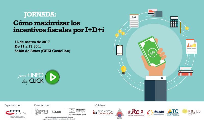 """Recordatorio: jornada """"Cómo maximizar los incentivos fiscales por I+D+i"""""""