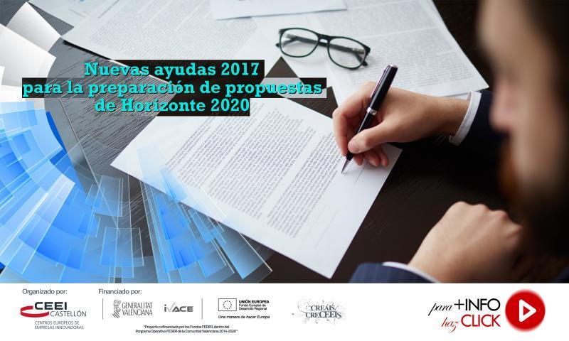 Nuevas ayudas a la preparación de propuestas de Horizonte 2020