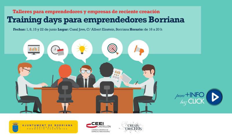 Training days para emprendedores y empresas en Borriana