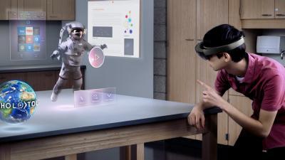 'Hololens', el visor de realidad aumentada de Microsoft