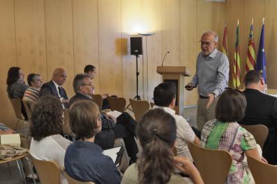 Juan Luis Segurado, en la conferència 'Reptes del creixement'.