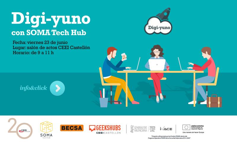 Invitación al Digi-yuno de SOMA Tech Hub: Open Innovation con BECSA