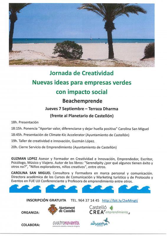 Jornada CREATIVIDAD para EMPRESAS VERDES con IMPACTO SOCIAL