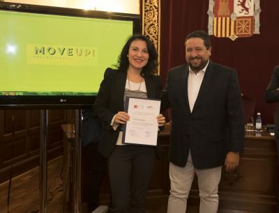 Acto entrega de premios y diplomas Move Up! 2017. Inma Rovira