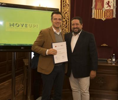 Acto entrega de premios y diplomas Move Up! 2017. Javier Antolí