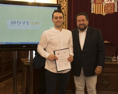 Acto entrega de premios y diplomas Move Up! 2017. Juan Carlos López