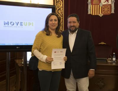 Acto entrega de premios y diplomas Move Up! 2017. Lydia Santamaría