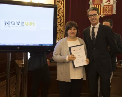 Acto entrega de premios y diplomas Move Up! 2017. Lucía García