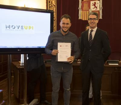 Acto entrega de premios y diplomas Move Up! 2017. Miguel Marquina