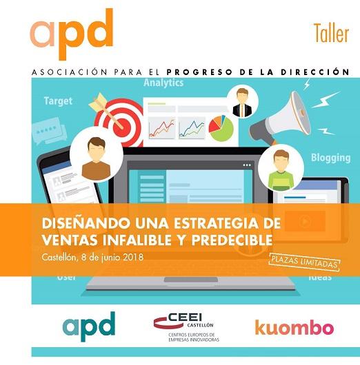 """Recordatorio Taller: """"Diseñando una estrategia de ventas infalible y predecible"""",8 junio"""