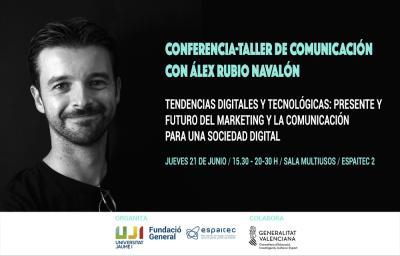 Taller comunicación con Alex Rubio en Espaitec