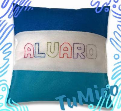 Cojín Álvaro azul
