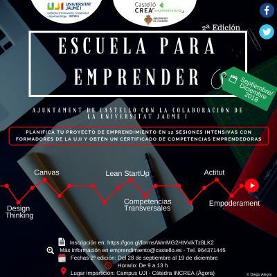 "2ª edicion ""Escuela para Emprender"" Ajunt Castelló / Univ. Jaume I"