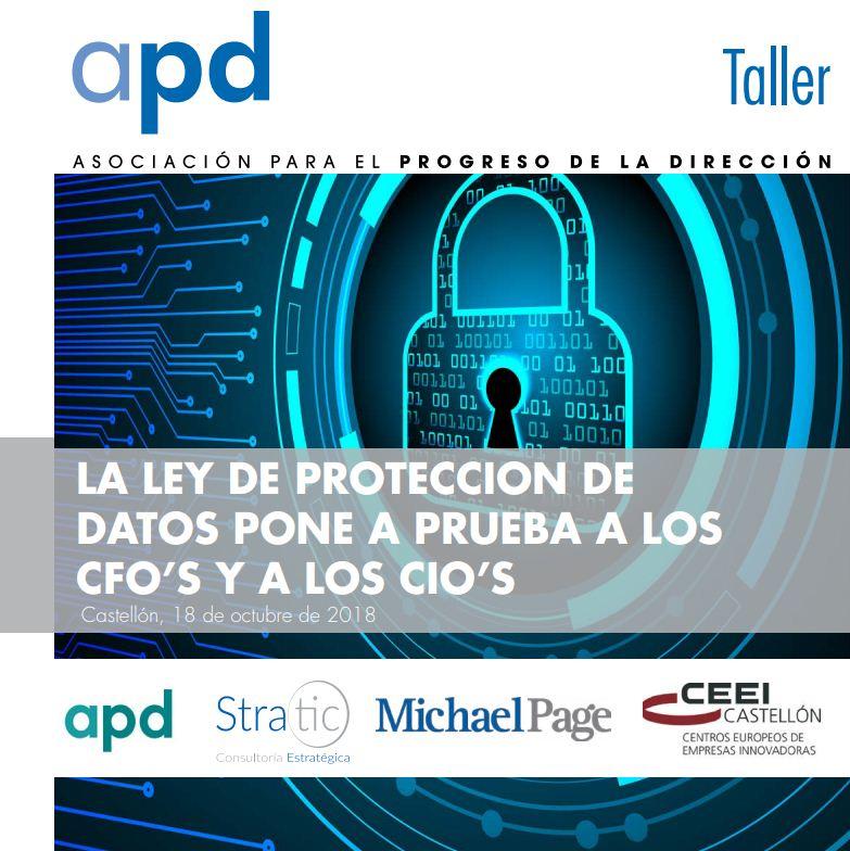 Taller: La ley de protección de datos pone a prueba a los CFO's y a los CIOS's