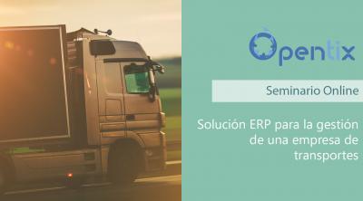 Webinar: Solución ERP para la gestión de una empresa de transportes