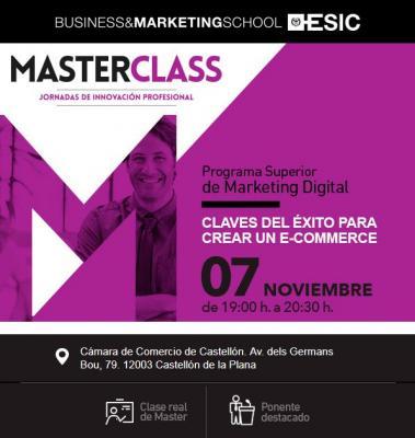 Masterclass:Descubre las claves del éxito para crear un e-commerce