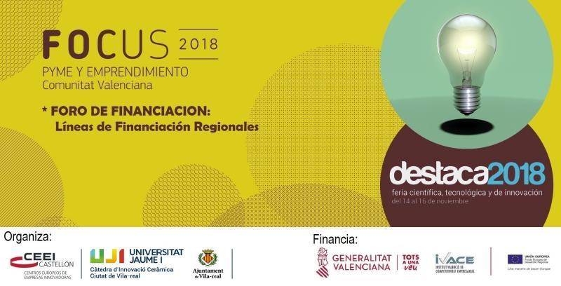 Invitación :FORO DE FINANCIACIÓN, Líneas de Financiación Regionales. 16 de nov