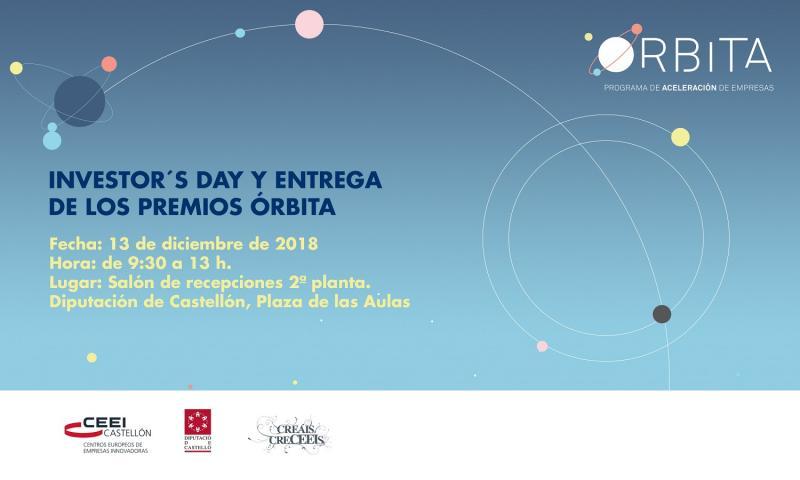 Invitación:Investor's Day y acto de entrega I edición Premios Órbita, 13 Dic.