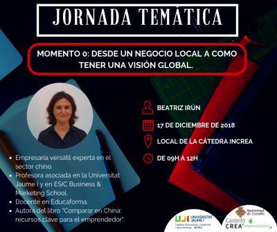 Jornada temática Momento 0: desde un negocio local a como tener una visión global