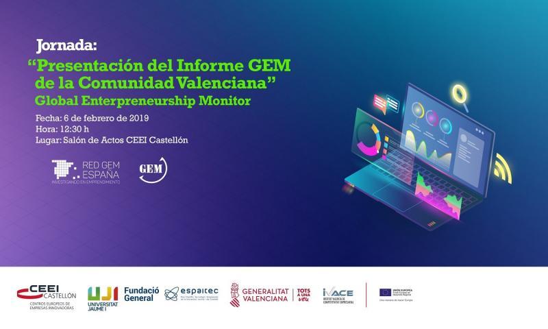 Recordatorio Invitación: Presentación del Informe GEM CV en Castellón, 6 de febrero