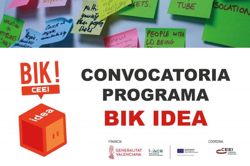 Abierta CONVOCATORIA PROGRAMA BIK IDEA CEEI Castellón