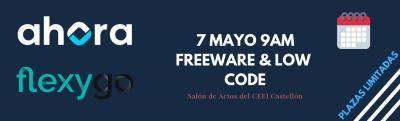 El 7 de Mayo tienes una cita con el Freeware y el Low Code