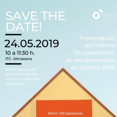 """Presentación informe:"""" El consumidor de recubrimientos en España en 2018"""""""